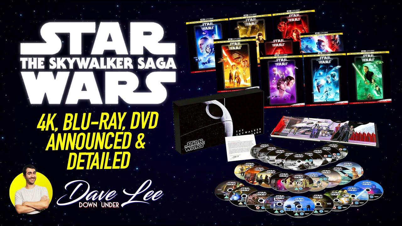 Star Wars Skywalker Saga 4k Blu Ray Dvd Announced Previewed Youtube
