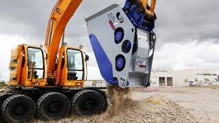 Мега техника удивительные машины.Heavy equipment crushing rocks ATW