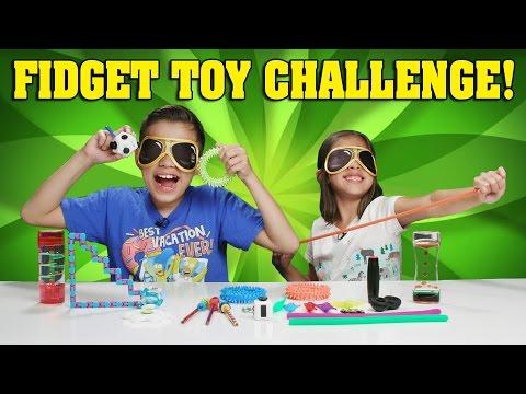 BLINDFOLDED FIDGET TOY CHALLENGE!!! Kids React to Fidget Toys!