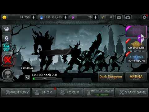 How to hack dark sword 2.0: hack level, full souls, full power stone, full spirit pieces ...