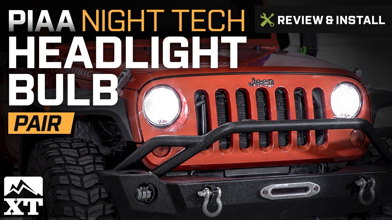 Jeep Wrangler Piaa Night Tech Headlight Bulb 2007 2017 Jk Review Install