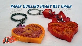 Paper Quilling Heart Keychain Tutorial | How to make | JK Arts  164