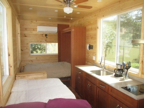 Sleep Without Climbing In This Loft Less Tiny House