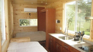Sleep Without Climbing In This Loft-less Tiny House