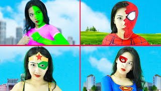 She-Hulk, Spider-Girl With All Superheroes Transformations Vs Siren Head - BigGreenTV
