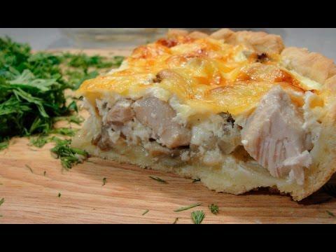 Как приготовить пирог киш с курицей и грибами рецепт