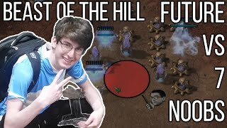 Pro Player Future vs 7 Noobs [FFA] Beast of the Hill After Party - Starcraft 2