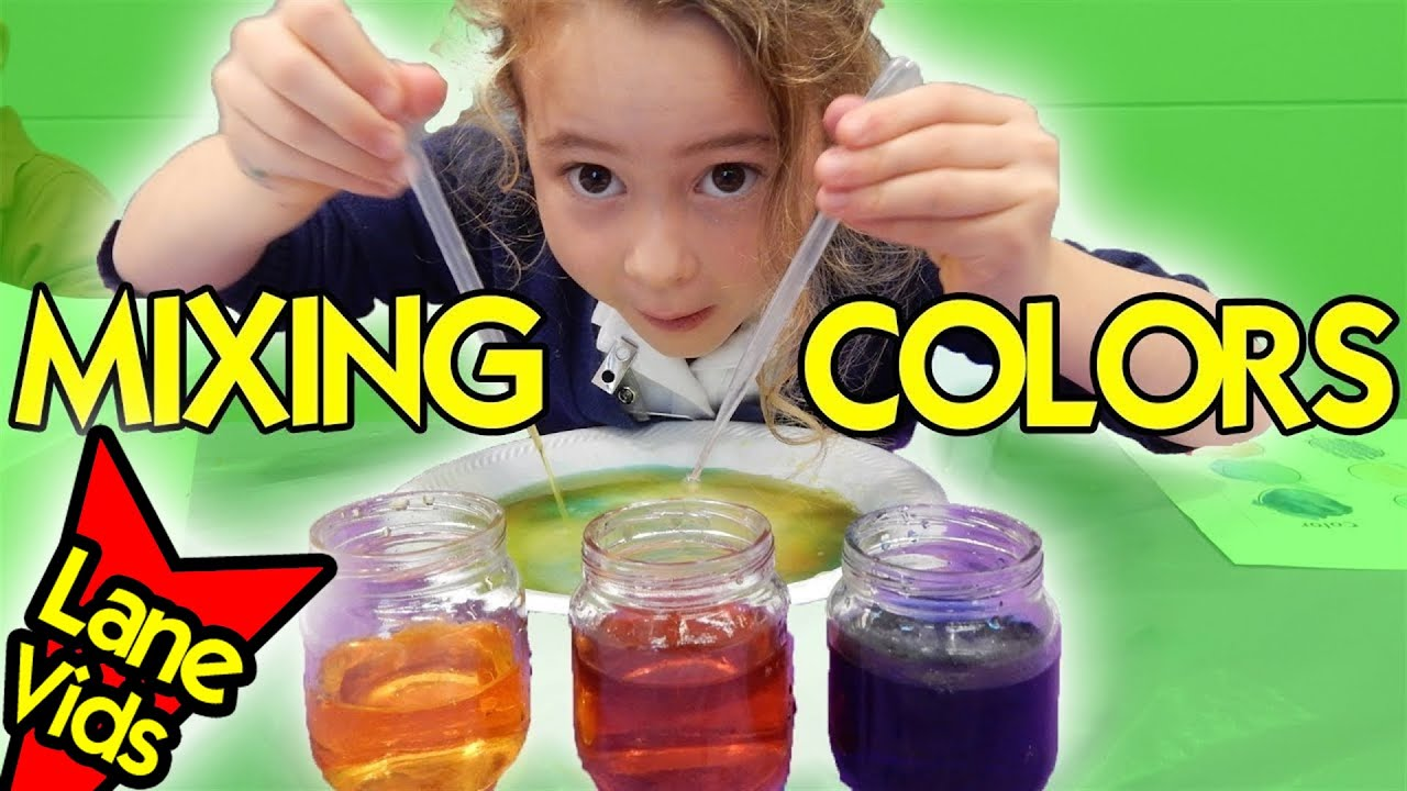 MIXING COLORS PROJECT | Science Experiments for Kids - YouTube