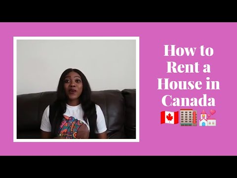 How To Rent A House In Canada