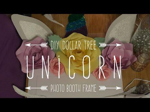 DIY Dollar Tree Unicorn Photo Booth Frame