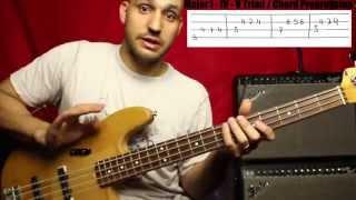 Basics of playing Reggae Part 2 - I IV V Progression with Triads - Bass Lesson - L#3 thumbnail