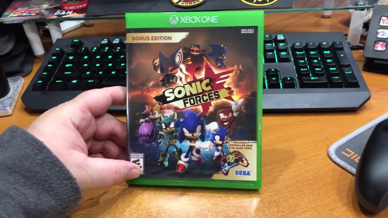 Sonic Forces Bonus Edition Unboxing With Controller Skin Xbox One Youtube