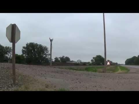 BNSF Coal Train Heads west at Hazard, Nebraska
