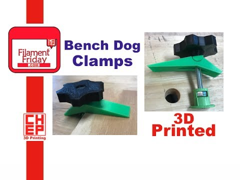 Workbench Bench Dog Hole Clamps 3d Printed Youtube