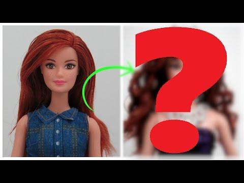 Transformação Cachos na Barbie Ruiva  Como Será que Ela vai Ficar?