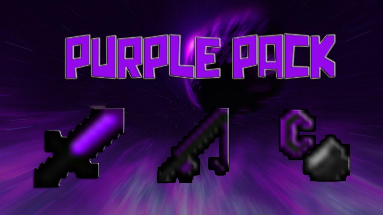 Texture Pack de PvP Morado - Purple Pack - 1.7 - 1.8 - YouTube