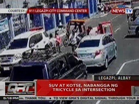 QRT: SUV at kotse, nabangga ng tricycle sa intersection sa Albay