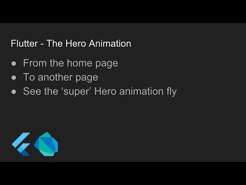 Flutter - The Hero Animation
