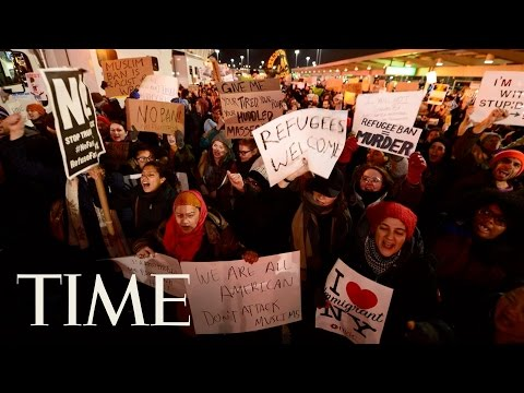 JFK Protest In Response To Trump Executive Order | 360 Video | TIME