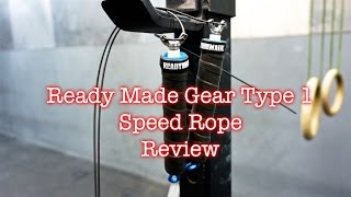 Ready Made Gear Recon Speed Rope Review - CrossFit Jump Ropes(I was pleasantly surprised by the performance of the Ready Made Type 1. Nothing in the price range can match it for performance, speed and features. Made in ..., 2015-12-25T03:04:47.000Z)