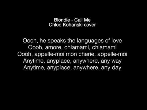 Chloe Kohanski  - Call me Lyrics ( The Voice 2017 )