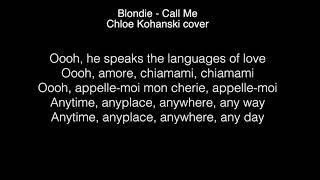 Chloe Kohanski  - Call me Lyrics ( The Voice 2017 )