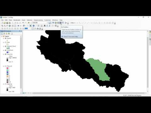 Catchment Area calculation By ArcGis 10.4. Watershed Calculation,Hydrology