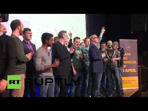 Netherlands: Voters celebrate after rejecting EU-Ukraine Association Agreement
