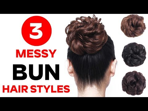 3 Messy bun for gown, lehenga, saree, western wear, party, weddings || bridal hairstyle || hairstyle thumbnail