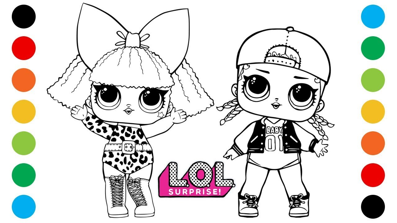 Lol Surprise Diva M C Swag Coloring Pages For Kids Digital Coloring