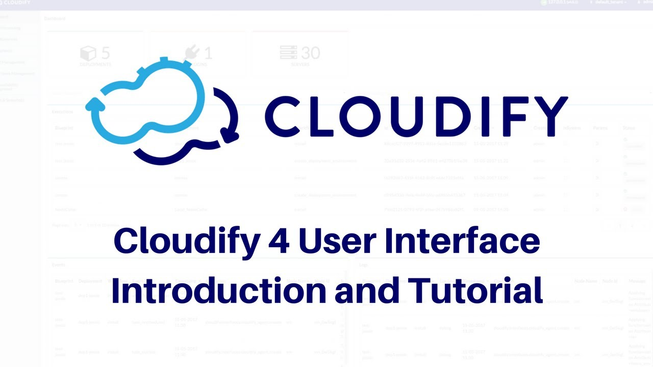 Cloudify 4 ui introduction and tutorial youtube cloudify 4 ui introduction and tutorial malvernweather Choice Image