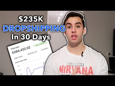 $235K In 30 Days Dropshipping These 4 Products (Shopify Dropshipping 2019)