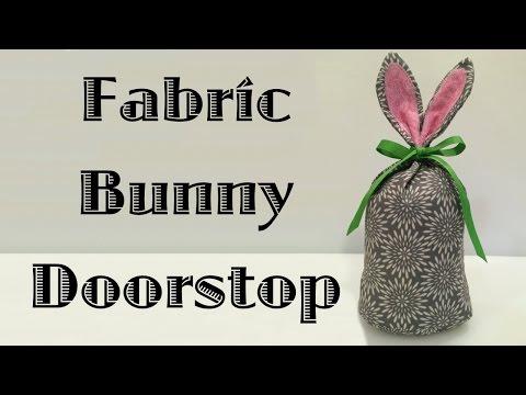 Fabric Bunny Doorstop