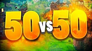 FORTNITE 50 vs 50 *NUEVO* MEJOR MODO de BATTLE ROYALE