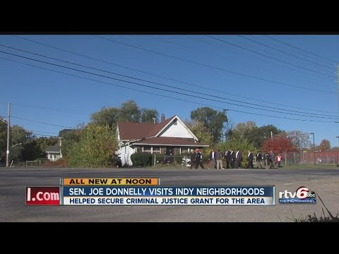 Sen. Joe Donnelly visits Indianapolis neighborhoods