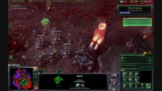 "Starcraft 2 Wings of Liberty: Final Mission ""All In"" Hard difficulty & Aces High Acheivement PART 2"