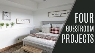 DIY: 4 Guest Room Projects
