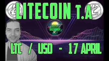 Litecoin (LTC/USD) Higher Highs in Store? April 17 Tecnical Analysis w/ Rocky Outcrop - Bonus Video