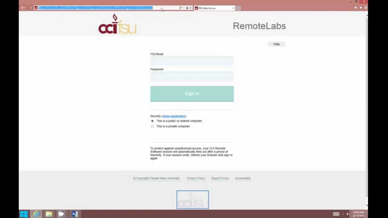 Access RemoteApps using Web Browser