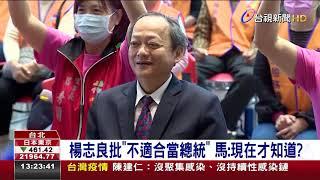 楊志良批「不適合當總統」 馬英九:現在才知道?
