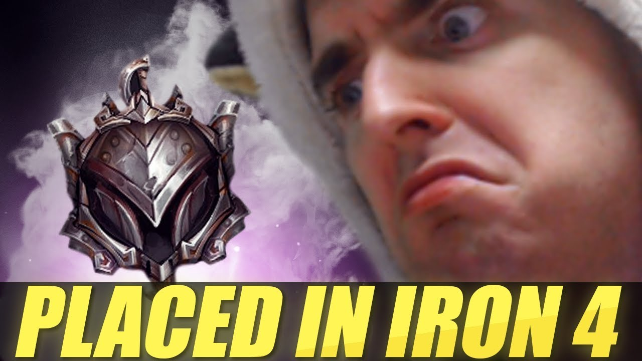 I'VE BEEN PLACED IN IRON 4??? - Cowsep
