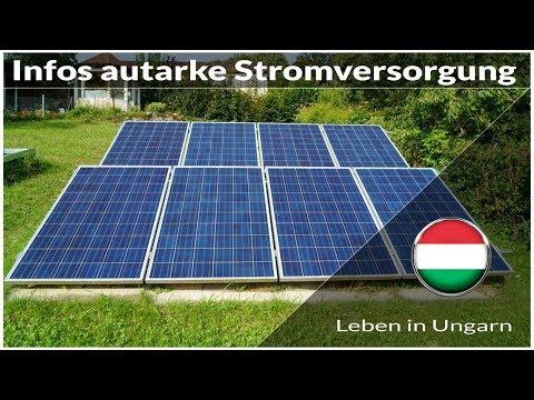 Infos über autarke Stromversorgung - Leben in Ungarn