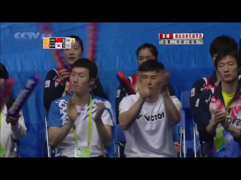 Best Excited Men Doubles Badminton Jung Jae Sung Lee Yong Dae vs Cai Yun Fu Haifeng