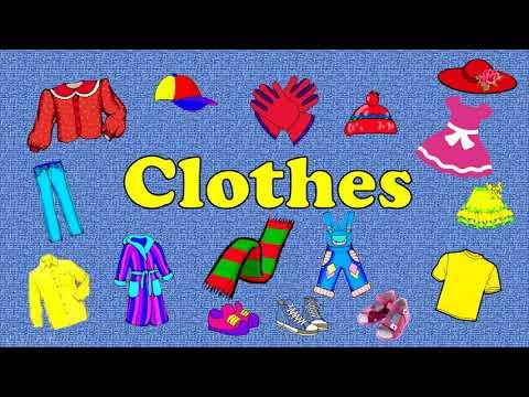 Одежда. Clothes. Английский для детей