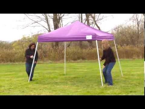ShelterLogic 10x10 Sport Pop Up Canopy Installation & ShelterLogic 10x10 Sport Pop Up Canopy Installation - YouTube