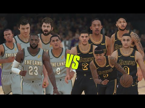 Can Isaiah Thomas And The Lakers Beat The Cleveland Cavaliers? NBA 2K18 Gameplay!