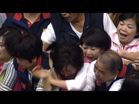 Taiwan legislators in brawl over tax