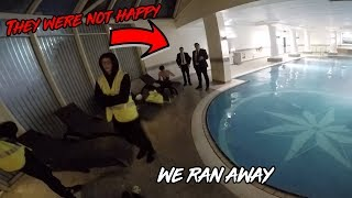 SNEAKING INTO FANCY HOTEL *WORKER GOT PI**ED AND CHASED US*