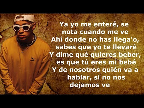 Bad Bunny, Jhay Cortez - Dakiti (Letra/Lyrics)
