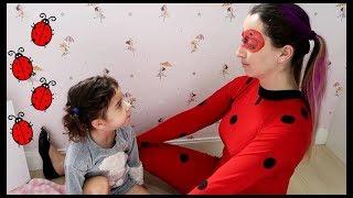 novelinha: ladybug gigante e de verdade - Mom and lili became the real ladybug